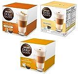 nescafe dolce gusto cup - NESCAFÉ Dolce Gusto Coffee Capsules Latte Variety Pack - Original Latte Machiatto, Vanilla Latte Machiatto and Carmale Latte Machiatto 48 Single Serve Pods Total, Makes 24 Cups