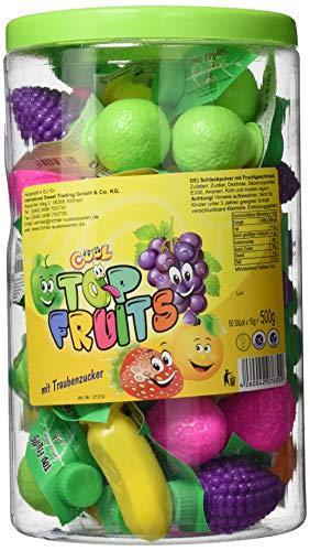 Cool Top Fruits Schleckpulver mit Fruchtgeschmack 50 Stück in der Dose