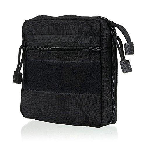 ruifu tactique Molle Dump Pochette Utility Pochette Accessoire Fixation molle sac à dos, Noir