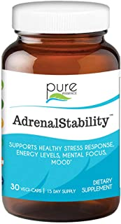 Sponsored Ad - Pure Essence Labs Adrenal Stability - Natural Adrenal Support Supplement for Fatigue, Anxiety & Stress Reli...