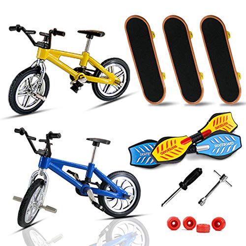 BINGBIAN Finger Skateboards Finger Bikes Scooter Tiny Swing Board Mini Finger Toys Set