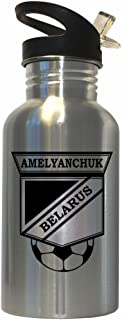 Syarhey Amelyanchuk (Belarus) Soccer Stainless Steel Water Bottle Straw Top