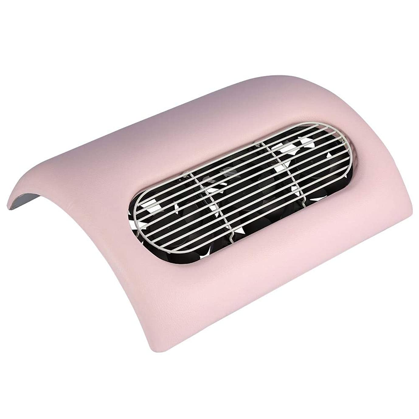 実行健康ペグネイルダスト掃除機,ネイルダストクリーナー3色ー2-IN-1強力なネイルアート集塵機コレクターマニキュア掃除機 (Pink)