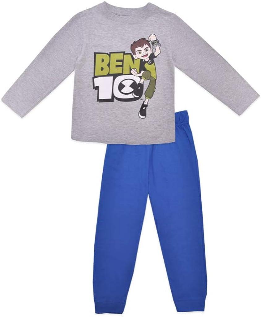 Cartoon Network Pijama infantil de algodón Ben 10 gris 98 cm ...