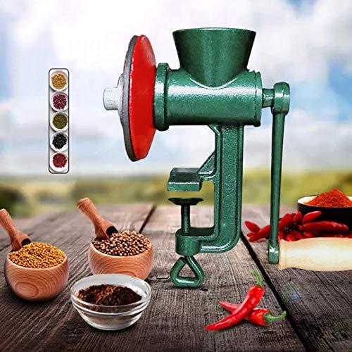 BOLORAMO Molinillo de maíz, Molinillo de Grano de Apertura de Abrazadera Ancha para Granos Granos, café, nueces, Pimienta, Frijoles, Trigo, maíz, maní, Medicina China, Pimienta