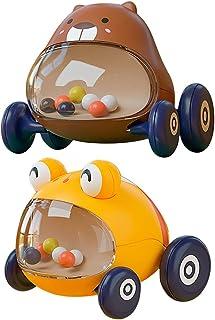 TOYANDONA 2pcs Pull Back Cars Small Cars Toys Cute Bee Bear Shape Pull Back Vehicles Educational Toy for Baby Kids Birthda...