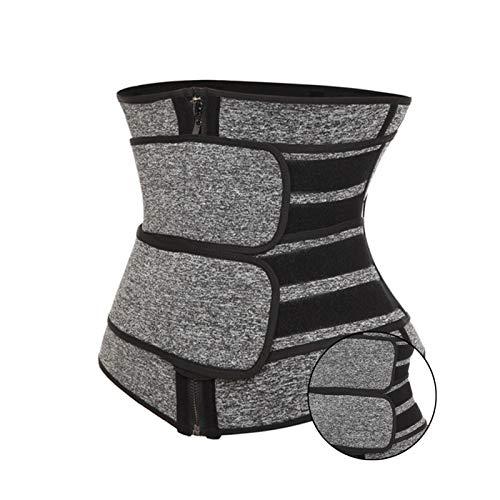 Entrenador de cintura para mujer Cinturón Cincher Control de barriga Faja para el sudor Entrenamiento Banda delgada para el vientre para bajar de peso (Color : Gray, Size : M)