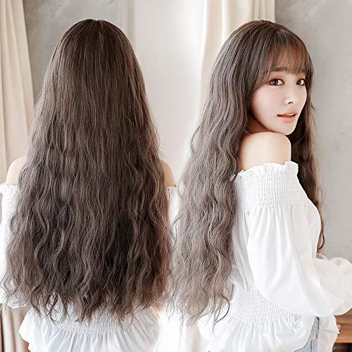 Wig female long curly hair big wave Korean hair fashion wig corn perm Synthetic wig headgear wholesale