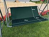 Ersatz-Schaukelsitzbezug für Hollywoodschaukel, Sitzbezug für Gartenstuhl, für den Außenbereich, 148 x 50 x 50 cm, Grün
