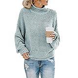 chenlao7gou621 maglione autunno e inverno da donna maglione a collo alto con filo spesso
