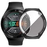 AnnTec Huawei Watch GT2e 46mm ケース 全面保護 落下防止 キズ防止 保護カバー 高透過率 防爆裂 TPU 耐衝撃性 超軽量 Huawei Watch GT2e 46mm TPU 保護ケース(ブラック)
