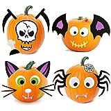 Joyjoz pegatinas de espuma de calabaza de Halloween, 25 piezas de calabaza, kit de manualidades para...