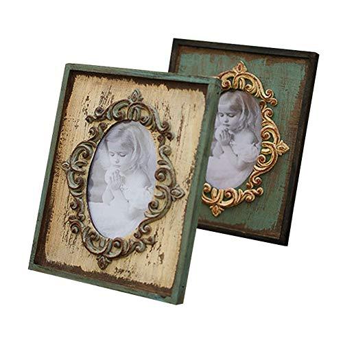 Vintage Europese stijl fotolijst, Massief hout fotolijst, Rustieke stijl rechthoekige staande fotolijst decor hout bruiloft bureau muur fotolijst verjaardagscadeaus