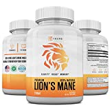 Natural Lions Mane Mushroom Capsules - Made in USA -...
