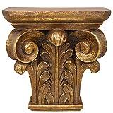 Aubaho Consola ménsula estantería Consola de Pared Oro Estilo Antiguo 42cm