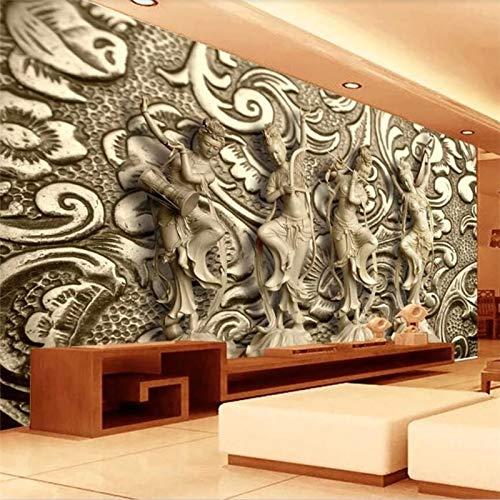 WOONN - Papel pintado para pared, diseño de piedra Dunhuang Feitian, 300CM*199CM