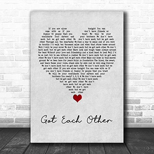 WisdomCourage #The #Interrupters #Got Each Other Song Lyric Grey Heart Music Print Funny Wall Art Gifts Lovers Poster