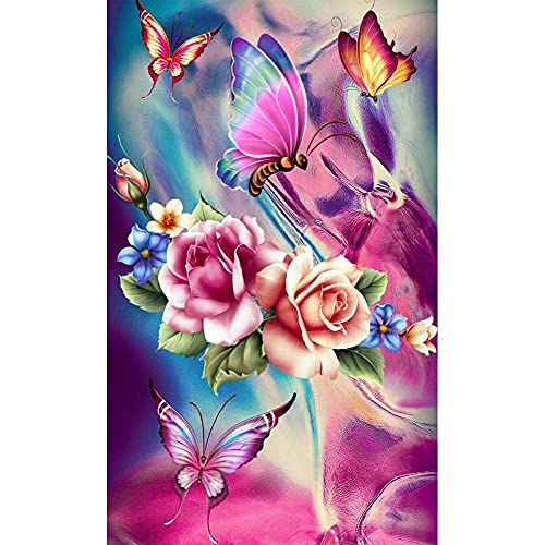 Diamond Painting Kit, 5d Diamond Painting Kits for Adults, Butterfly Diamond Painting Round Full Drill Diamond Art Kits, for Home Wall Decor 12X16Inch