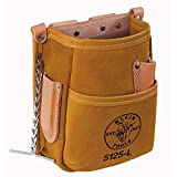 Pocket Tool Pouch with Tape Thong, Leather Klein Tools 5125L , Brown