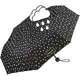 Paraguas, color negro, cambio de color cuando se moja, lluvia