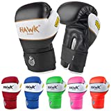 Kids Boxing Gloves for Kids Children Youth Punching Bag Kickboxing Muay Thai Mitts MMA Training Sparring Gloves (Black,...