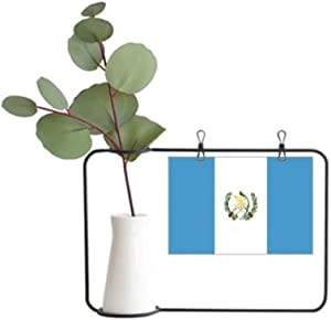 DIYthinker Guatemala National Flag North America Country Metal Picture Frame Ceramic Vase Decor