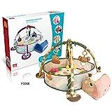 LANGYA Tiny Love Super Mat, Gran Juego de Actividad Mat Adecuado Desde el Nacimiento, Musical Baby Play Mat y Newborn Activity Gym,0 Mes +, Giraffe