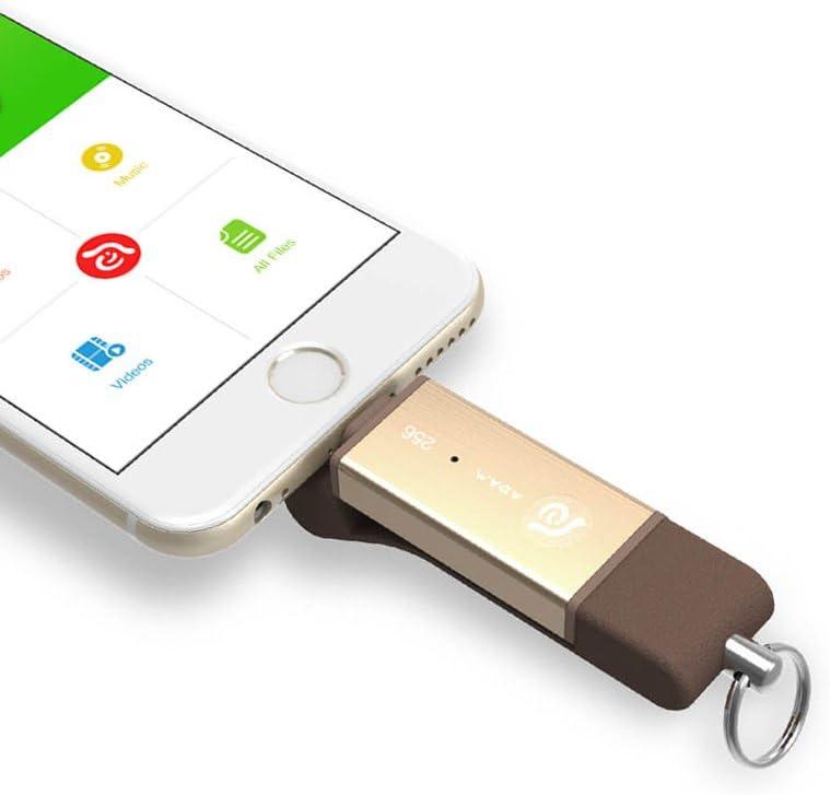 Adam Elements iKlips Duo 【Apple MFI Certification Lightning/USB 3.1 Flash Drive 128GB】 Rosegold ADRAD128GKLDRG, Clear