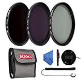 BESCHOI - 77mm Lente Filtro, Packs de Filtros Fotográficos para Nikon Canon EOS DSLR Cámaras (8 PCS Incluye ND2 ND4 ND8 + Aceesorios)