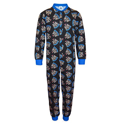Newcastle United FC Official Gift Boys Kids Pyjama All-in-One 9-10 Years Black