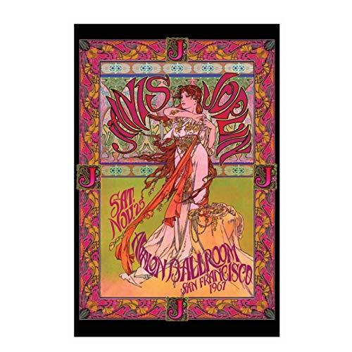 Feitao Janis Joplin - Cartel De Arte De Rock Clásico De Concierto De
