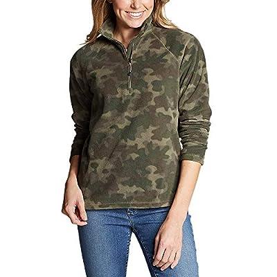 Eddie Bauer Women's Quest Fleece 1/4-Zip - Printed, Camo Regular XL