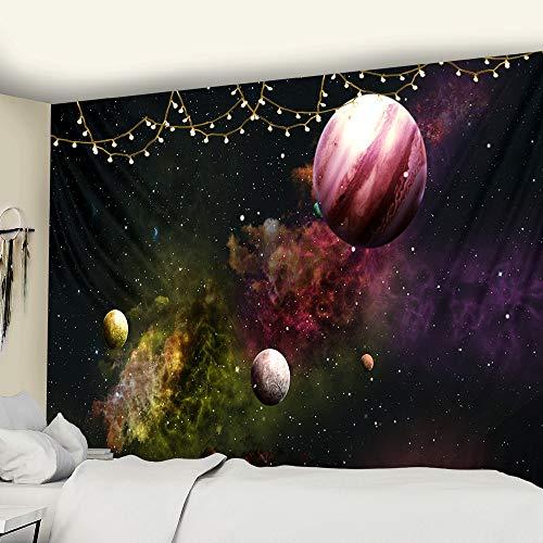 KHKJ Cósmico Cielo Estrellado decoración psicodélico Tapiz Colgante de Pared Indio Mandala Tapiz Hippie Tapiz de Pared A5 200x180cm