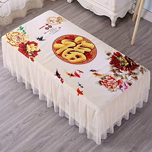 YOUYUANF tischdecke Garten Antifouling-Tischdecke, Pflegeleichte Tischdecke, rechteckige Tischdecke, Kristallsamt75x130cm