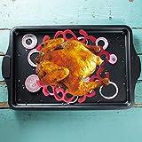 Rejilla de silicona para carne, antiadherente de silicona para horno de microondas, soporte para parrilla, soporte para bandeja para hornear pavo, rejilla para asar, herramienta de cocina(red)