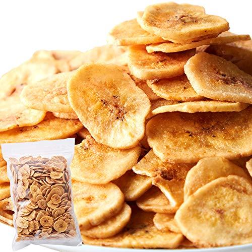 天然生活 バナナチップス (500g) 濃蜜 ココナッツオイル ドライフルーツ おやつ 徳用 チャック付き