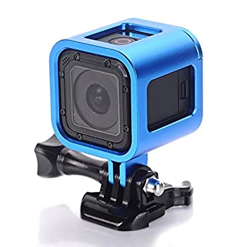 Nechkitter Aluminum Frame Mount for GoPro Hero 5 Session 4 Session Hero Session CNC Aluminum Alloy Solid Protective Case with Wrench -Blue