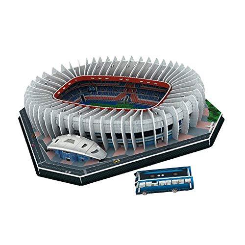 Stadium 3D Puzzle Dreidimensionales 3D Fußballstadion Modell Fußballstadion Montiert Spielzeug (171 Pariser Fürstenpark)