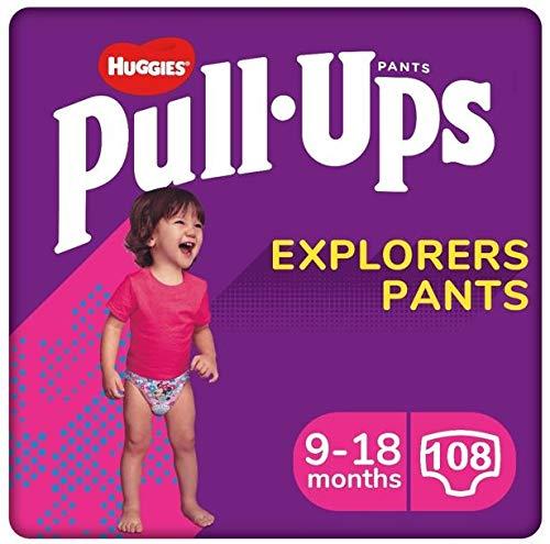 Huggies Pants Pull-Ups Niña Talla 4, 8-12 Kg 108 uds