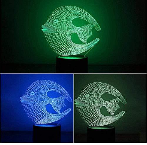 Colorido 3D Luz de Noche de Coral Peces de Luz de Noche de Protección de Ojos LED Luz de Noche de la Luz de la Mesita de la Noche
