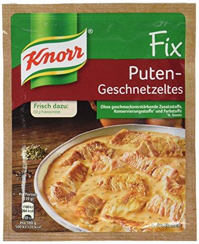 Knorr Fix für Putengeschnetzeltes, 24er Pack (24 x 36 g Beutel)