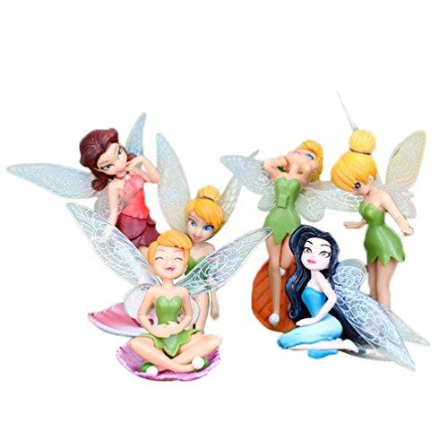 SmileyEU Pack de 6 PCS miniatura Hada de la flor de las muchachas muebles del Dollhouse...