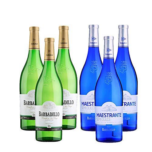 Vinos Blancos Castillo de San Diego y Maestrante - D.O. Tierra de Cadiz - Mezclanza Barbadillo (Pack de 6 botellas)