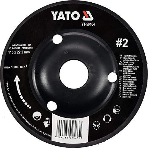 Yato Profi Raspelscheibe für Winkelschleifer Auswahl 115 mm 125 mm Schleifscheibe Holzscheibe Holz Flex Holzkunst (115 mm Nr 2)