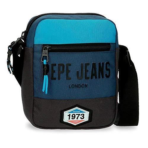 Pepe Jeans Skyler Bandolera Azul 17x21x7 cms Poliéster