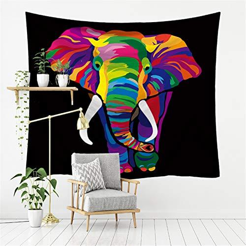 DHHY Tapiz con Estampado De Elefante, Decoración del Hogar, Lienzo para Colgar En La Pared del Dormitorio, Pintura De Fondo para Sala De Estar De Fibra De Poliéster200*150cm