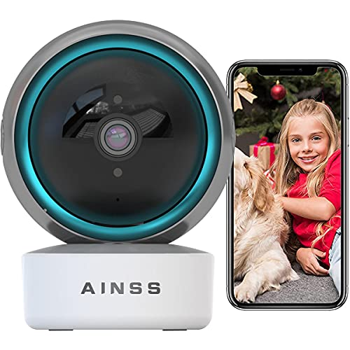 Baby Monitor 2MP FHD PTZ Cámara de Seguridad WiFi Cámara de Vigilancia Interior Compatible con Alexa,Audio Bidireccional,HD Vision Nocturna Alerta de Detección de Movimiento (WiFi-Cámara)
