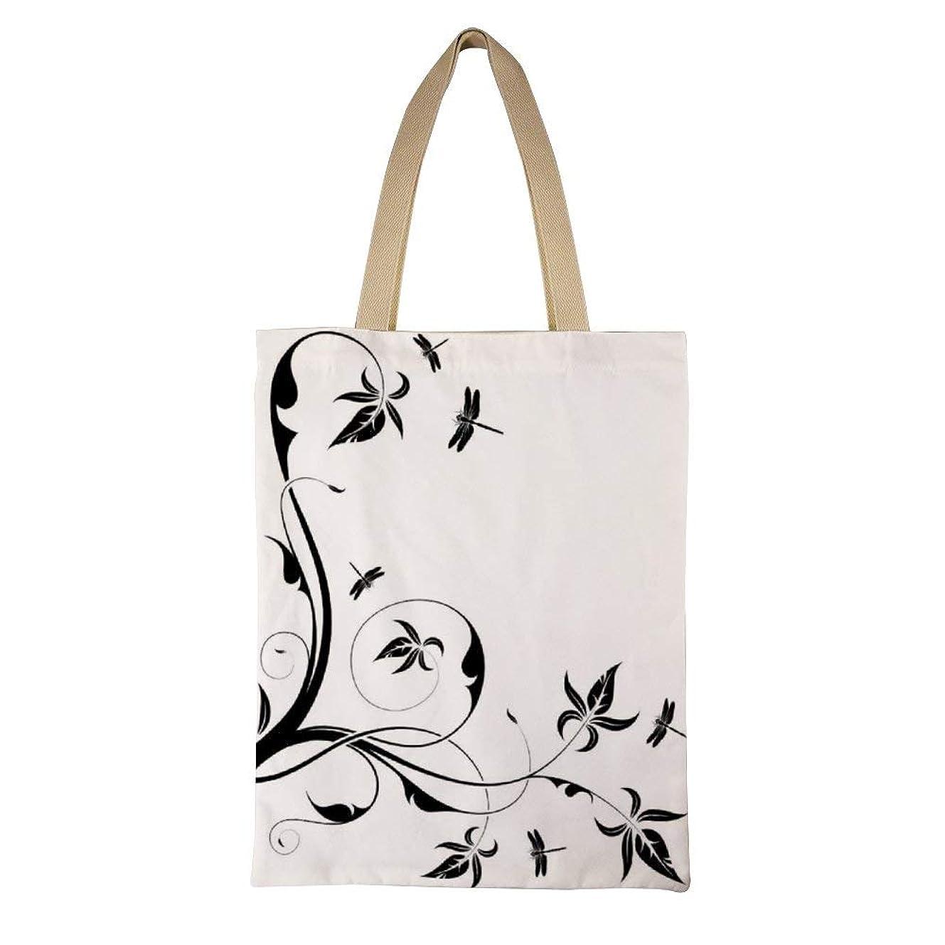 アプト彼どこでもSwirled Floral Background with Damask Curl Branches And Leaves Print レディース キャンバストートバッグ ハンドバッグキャンバスショルダーバッグ通勤通学 大容量 軽量