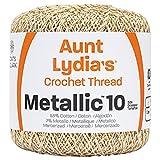 Coats Crochet Metallic Crochet Thread, Natural/Gold