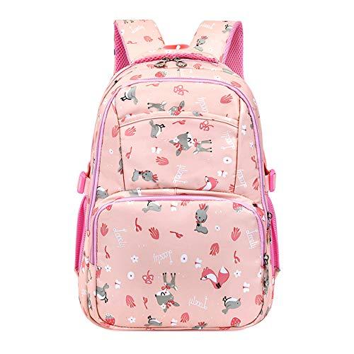 niña niña mochila escolar niña multi-compartimento mochila escolar secundaria mochila de ocio mochila de viaje mochila escolar estudiante-lightpink